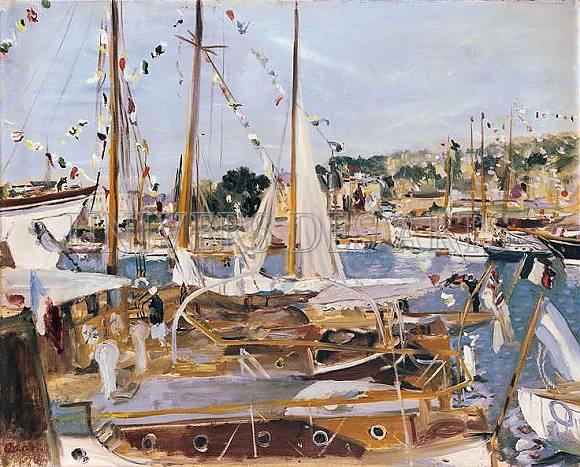 adrion_lucien_bateaux_et_yachts_pavoises_dans_un_port.jpg
