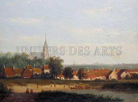 ahrendts_carl_eduard_vue_d_un_village_avec_une_riviere.jpg