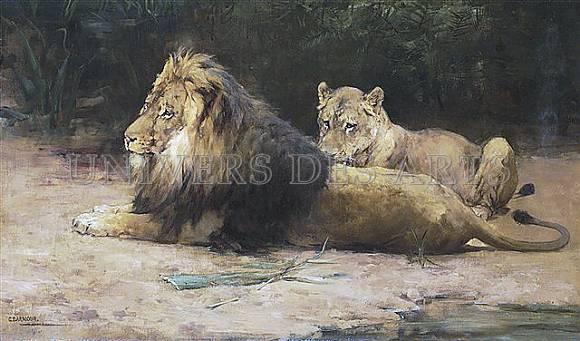 armour_george_denholm_lion_et_lionne_au_repos.jpg