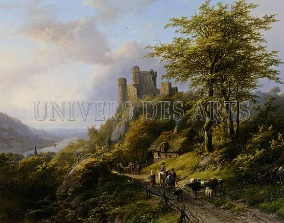 klombeck_johann_bernard_figures_pres_d_une_ruine_dans_un_paysage.jpg