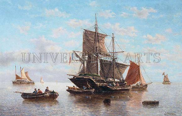 timmermans_louis_navires_de_peche_eaux_calmes.jpg