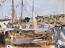 fichier:adrion lucien bateaux et yachts pavoises dans un port.jpg