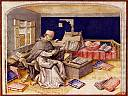 Enlumineur dans son scriptorium