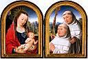 Diptyque Vierge à l'Enfant et Cistercien avec saint Bernard