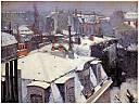 Vue de toits (effets de neige)