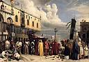 Honneurs funèbres rendus au Titien, mort à Venise pendant la peste de