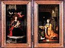 Diptyque Vierge à l'Enfant trônant et Marguerite d'Autr