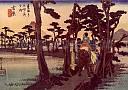 tokaido planche N°15, Hiroshige